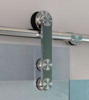 Wholesale Stainless Steel Glass Sliding Barn Door Hardware Track Set
