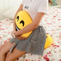 Wholesale Emoji Decorative Throw Pillow Stuffed Smiley Cushion Home Decor For Sofa Couch Chair Toy Emotional Smile Face Doll