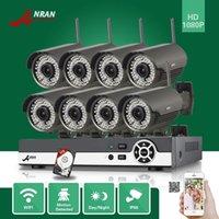al por mayor 3tb sistema de seguridad-ANRAN 8CH NVR Onvif 1080P al aire libre 78 IR inalámbrico de seguridad de red WIFI IP CCTV cámara de video sistema de vigilancia 3TB