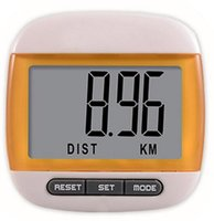 Wholesale 100pcs by dhl fedex Waterproof Step Movement Pedometer Calories Counter MultiFunction Digital Hiking Odograph