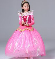 Wholesale 2016 girls dresses Girls dress Girls love princess dress winter sleeping beauty cuhk children s dress
