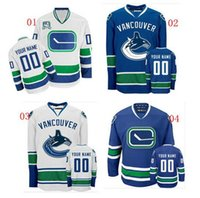 Wholesale Vancouver canucks jersey custom personalized your name numbers authentic sports jersey Size M XXXL