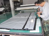 Wholesale custom made mm Portable D Silver Cinema projection screen foldable black border and evelet