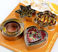 Wholesale Hot Sales Baking Moulds Cookies Pastry Cake Fondant Decorating Cutters Tool stainless steel moulds