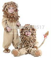 TV & Movie Costumes baby lion costume - New Children Show Animals Clothes Halloween Baby Lion Cosplay Costume Birthday Gift Halloween Performance