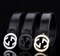 Wholesale New fashion hip brand gg belt designer belts for men women Cowskin Genuine leather gold silver black buckle cinto belt g Men s