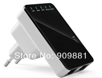 Wholesale Mini Wireless N Router AP Repeater Wifi Repeater N B G Network Router Range Mbps signal Antennas booster