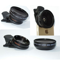 Wholesale 2 in mm x UV mm Wide lens Macro Lens with Clip For mobile phone iphone samsung