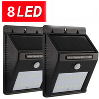 Wholesale 8Led Solar Panel Powered Motion Sensor Lamp Outdoor Light Garden Security Light For Outdoor Wall Yard Deck Auto On Off No Tools Required
