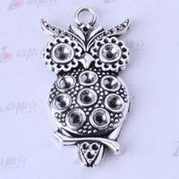 Wholesale Owl charms antique Silver bronze Pendant DIY mm jewelry pendant fit Bracelets or Necklace