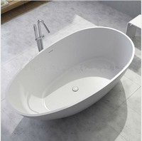 Wholesale 1780 x x mm Solid Surface STONE Bathtub ARTIFICIAL STONE TUB OVAL MATT AND GLOSSY FINISHING OPTIONAL FREESTANDING TUB