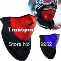 Wholesale Neoprene Snowboard Ski Cycling Face Mask Neck Warmer Bike Bicyle Ski Mask Mixed Colors fineworks