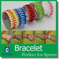 Wholesale Leather softball seam bracelet baseball seam bracelet softball bracelet baseball bracelet