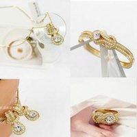 belt buckle necklace - Corea jewelry South Korea Austria crystal belt buckle shape Necklace Earrings Ring Bracelet jewelry sets B30