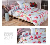 Wholesale 100 cotton flower printed king bedding set brand queen Duvet Covers Sets Sheet sets