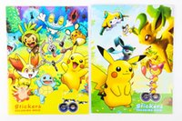 Wholesale pikachu coloring book painting drawing book Animal cartoon poke go coloring books Relieve Stress For Children stickers book gift
