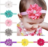aliexpress hair - Baby Lotus Flower Headbands with Glass Crystal Small Band Euro America Hot Sale Amazon Aliexpress Baby Hair Accessories Supply