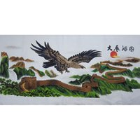 Wholesale Cross stitch finished Eagle the Great Wall realize the ambition the living room decoration mall selling special offer
