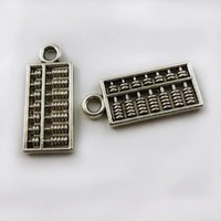 abacus pendant - 100PCS Pack Silver Abacus Zinc Alloy Pendant Charm Jewelry Finding mm jewelry making