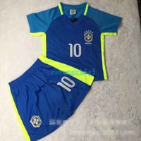 american football kits - 2016 Kids Euro two colors Cup Soccer Football Shirt Kits Children Jerseys Set Children Clothes Casual Sportswear Two Suit free EMS or DHL
