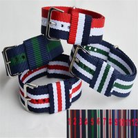 band funding - 20 mm Silver Buckle Vogue of New Fund of DW Model Strap Nylon Band High quality Nylon Strap Kinds of Color
