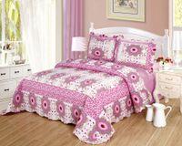Wholesale JESSY HOME Sun Flower piece Reversible Comfortable Cotton Bedspread Coverlet Quilt Set