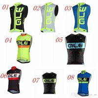 Wholesale New Arrivals Fluorescent Yellow ALE Cycling Jersey Sleeveless Mtb Bicycle Clothing Bike Clothes vest Maillot Ropa De Ciclismo Tops