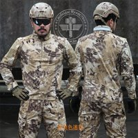 Wholesale 5 Colors Tactical t shirts for Men Long Sleeve tshirts Multi Camo Hunting Clothes Outdoor Quick dry Highland Combat Shirts Size M XL