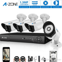 surveillance camera system - A Zone CH P AHD Home Security Cameras System DVR kit MP waterproof Night vision Indoor Outdoor CCTV surveillance Camera