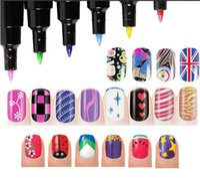 Wholesale Fashion Colors Nail Art Pen for D Nail Art DIY Decoration Nail Polish Pen Set D Design Nail Beauty Tools Paint Pens