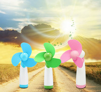 Wholesale 2016 Hot Sale Mini Portable Handheld Cool Air Fan Super Mute AA Battery Operated Fan EGS_700