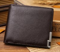 Wholesale Guangzhou Leather Goods Factory Iron Angle Leather Men s Slim Leather Wallet