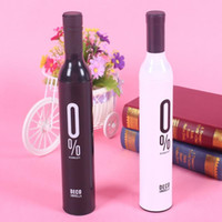 Wholesale Compact Automatic Fashion Wine Bottle Folding Anti UV Parasol Sun Rain Umbrella