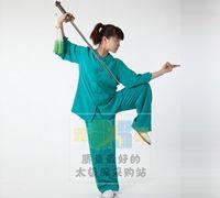 Wholesale on behalf of tai chi clothing Ya Xin Xia paragraph Western martial arts clothing and cotton green Taijiquan clothing
