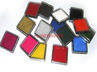 Wholesale DHL Fedex New colors Craft Ink pad Colorful Cartoon Ink pad for different kinds of stamps