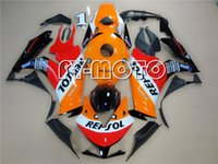 aftermarket abs motorcycle - Motorcycle Fairings For HONDA CBR1000RR CBR1000 RR Racing bikes Fairing kits Aftermarket Fairings Kit Repsol Replica