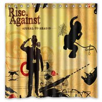 Wholesale Appeal To Reson Rise Again Music Band Pattern Custom x cm Waterproof Fabric Fashion Bath Shower Curtain
