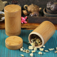 Wholesale Style Eco Friendly Tea Box Bamboo Storage Boxes Chinese Handmade Tea Canister Seal Kitchen Storage Jars NEW Tea Tools