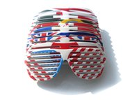 Wholesale 2016 New US flag shutter Glass frames Party supplier glass blinds Party glasses flag sunglasses