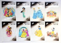 Wholesale 100 New princess cartoon logo Cloth quality Fashion iron on patches sice