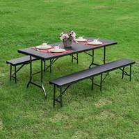 Wholesale IKAYAA FT Long Portable Folding Camping Picnic Bench Outdoor Garden Chair H16643