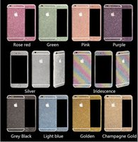 Wholesale Luxurious Bling Diamond Glitter Sticker Shiny Front Back Side Stickers For iPhone s plus for Galaxy S7 S6 edge PLus Note5