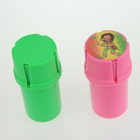 air grinders - New Design Bottle Grinder Water Tight Air Tight Medical Grade Plastic Smell Proof Tobacco Herb plastic case layer Grinders Two style