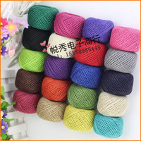 Wholesale 50m piece Natural Linen Twine Cord Jute Rope String Gift Packing DIY Hang Tag String For Handmade Accessory DIY Home Wedding Decorative