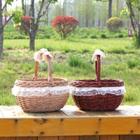 america gift shop - wholesales willow shopping basket willow gift basket with handle Eco Friendly basket popular in Europe and America