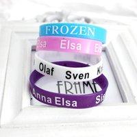 Wholesale Frozen Anna Elsa Olaf Sven character Silicone Bracelets Children Fashion Party Favor Jewelry