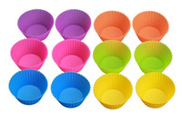 Wholesale FDA approved silicone baking cups heat resistand anti slip easy falling muffin cupcake liners for