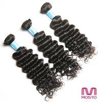MOSTO Les cheveux vierges péruviens de Malaisie tissent des bouquets de cheveux brésiliens profondes Extensions de cheveux naturels de cheveux humains