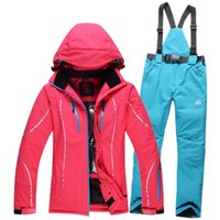 Wholesale New Winter Fashion Women Ski Suit Sets Windproof Waterproof Ski Jacket Pants Warm Thicken Breathable Clothes Pants Set
