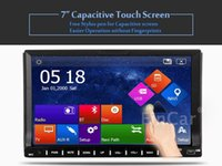 mp3 mp4 touchscreen - 7 quot Double DIN Car DVD CD Radio MP3 Stereo Player Bluetooth GPS Navigation Inch Capacitive Touchscreen Navigation Receiver